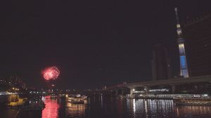 墨田川と花火
